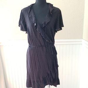 Who what wear black white polka dot dress